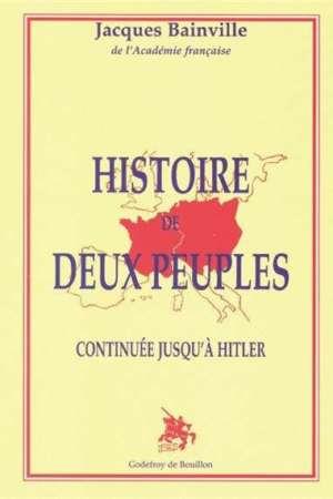 Histoire de deux peuples continuée jusqu'à Hitler