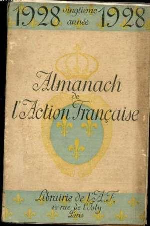 Almanach Action Française 1928