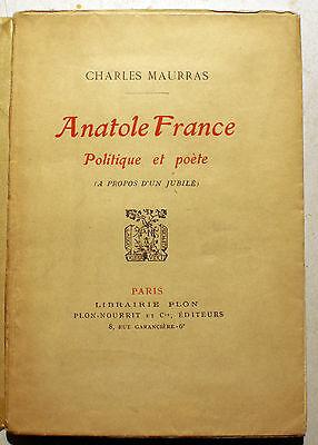Anatole France, politique et poète