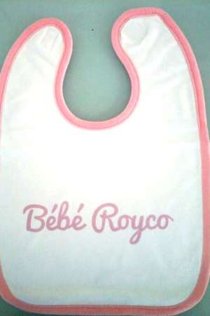 Bavoir «Bébé Royco» rose