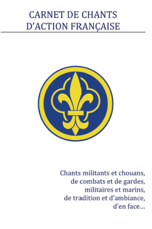 Carnet de chants d'Action française