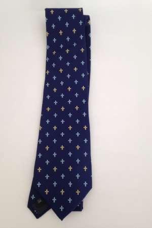 Cravate « Fleurs de lys » Bleue