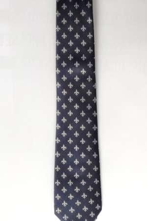 Cravate « Fleurs de lys » Bleu marine
