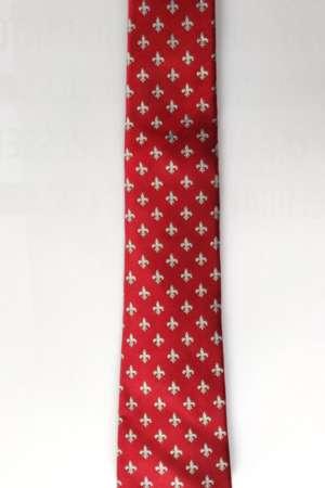 Cravate « Fleurs de lys » Rouge