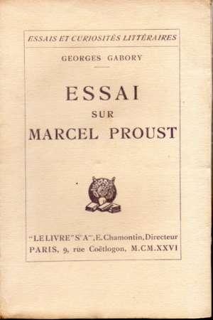 Essai sur Marcel Proust