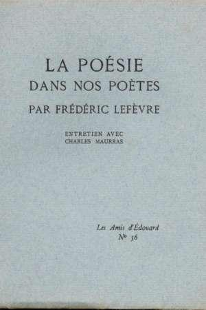 La poésie dans nos poètes