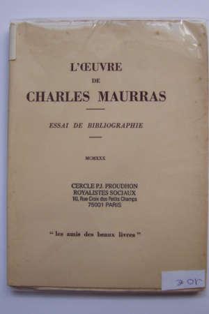 L'Oeuvre de Charles Maurras