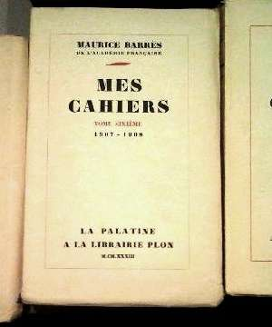 Maurice Barrès-Mes Cahiers