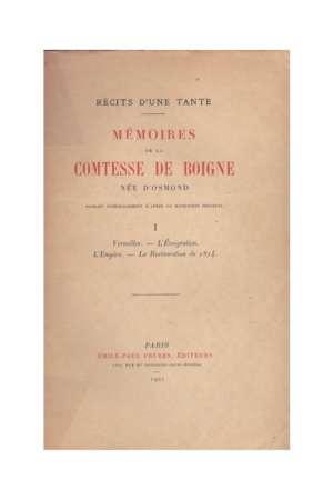 Mémoires de la Comtesse de Boigne Vol 1 à 5