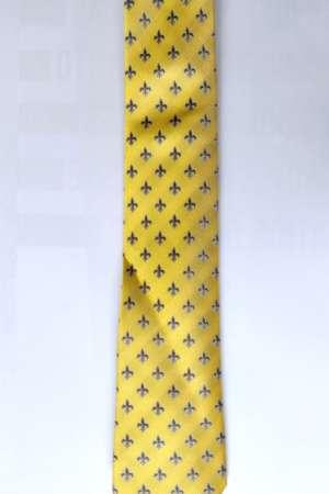 Cravate «Fleur de lys» Jaune