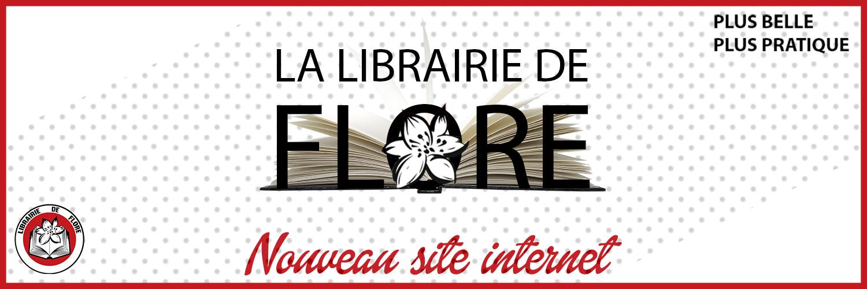Nouveau site Librairie de Flore, bannière, slider