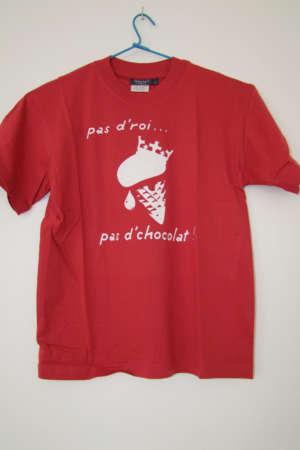 Tee shirt femme «Pas d'roi pas… pas d'chocolat»