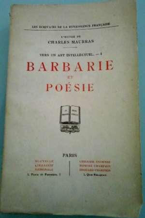 Barbarie et poésie