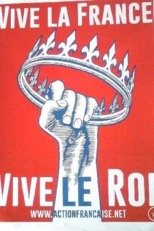 Affichette Vive la France, Vive le Roi