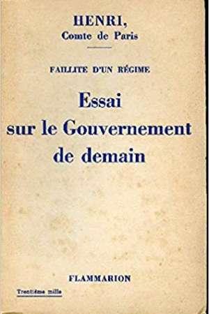 Essai sur le Gouvernement de demain