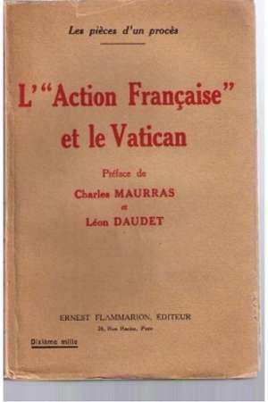 L'»Action Française» et le Vatican