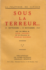 Sous la terreur… 20 septembre – 15 novembre 1927
