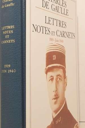 Lettres notes et carnets, 1919-Juin 1940