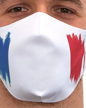 Masque en tissu tricolore «France»
