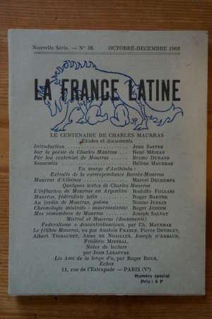 La France latine – Le centenaire de Charles Maurras