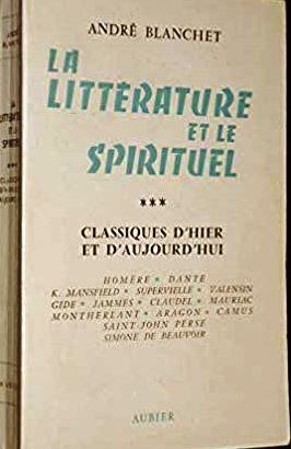 La Littérature et le Spirituel