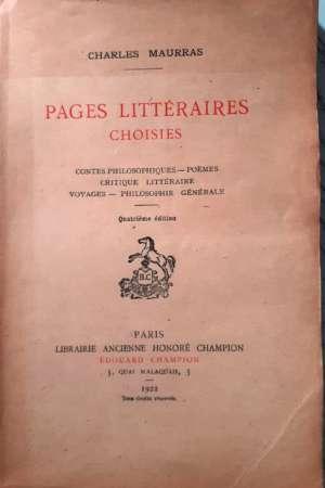 Pages Littéraires choisies